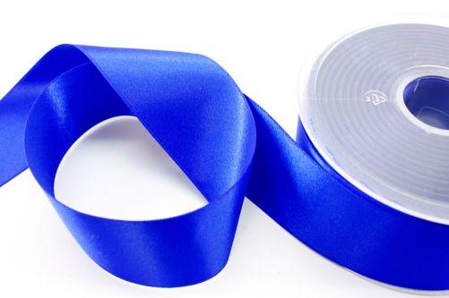 Satijnlint op rol blauw 38 mm