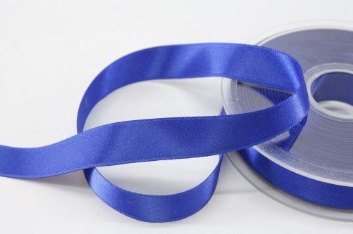 Satijnlint op rol blauw 15 mm