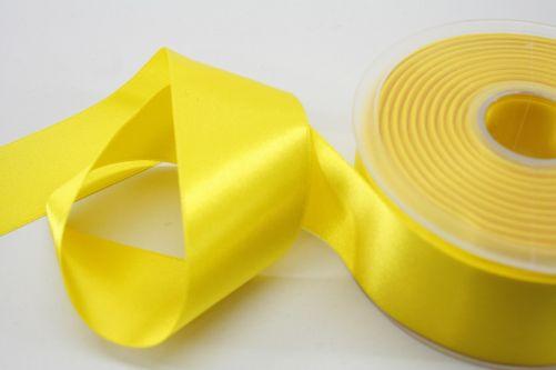 Satijnlint op rol geel 38 mm