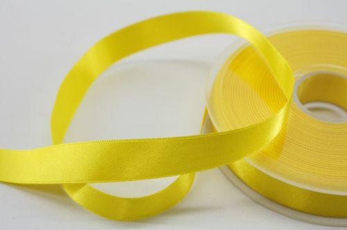 Satijnlint op rol geel 15 mm