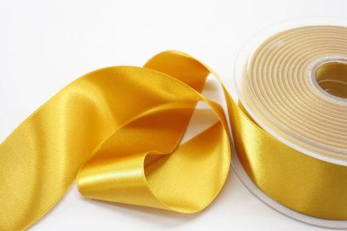 Satijnlint op rol goud 38 mm