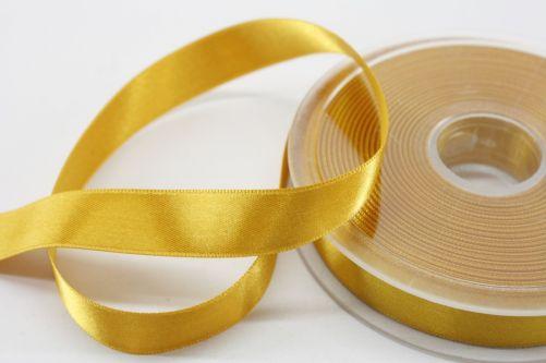 Satijnlint op rol goud 15 mm