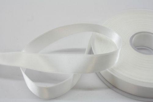 Satijnlint op rol offwhite15 mm