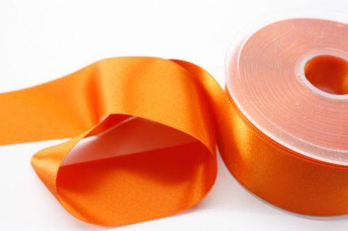 Satijnlint op rol oranje 38 mm