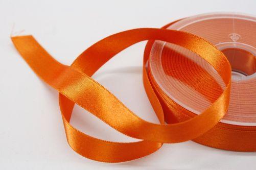 Satijnlint op rol oranje 15 mm
