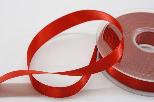 Satijnlint op rol rood 15 mm