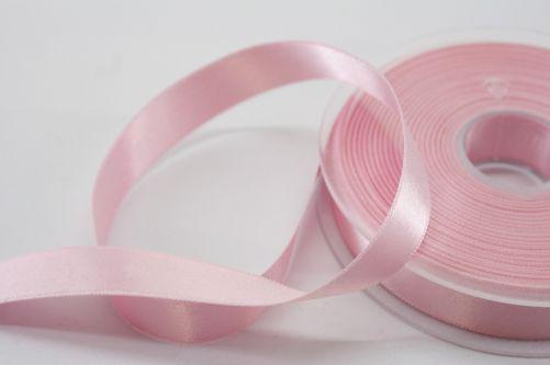 Satijnlint op rol roze 15 mm