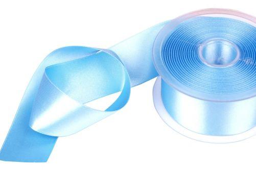 Satijnlint op rol lichtblauw 38 mm 25 meter