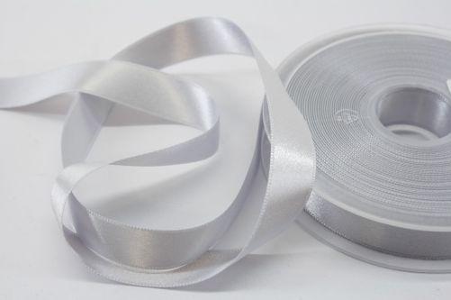 Satijnlint op rol zilver 15 mm