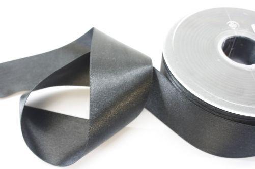 Satijnlint op rol zwart 38 mm