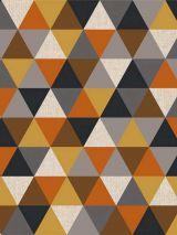 Bedrukte stof driehoek brique grijs