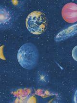 Bedrukte stof planeten