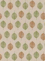 Bedrukte stof Scandinavisch blad groen-bruin