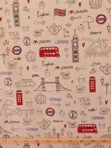 Bedrukte stof Londen