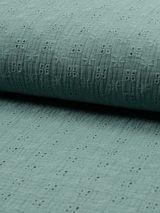 Hydrofiel broderie dusty green