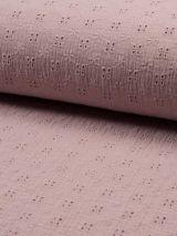 Hydrofiel broderie oud roze