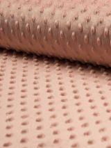 Minky fleece stof dusty roze