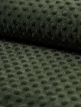Minky fleece stof kaki