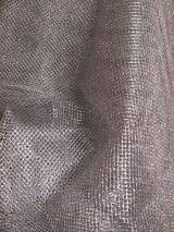 Tule metallic zilver