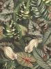 Velours digitale print botanisch
