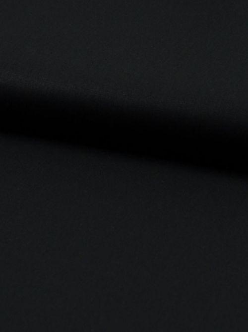 Biologisch katoen poplin zwart