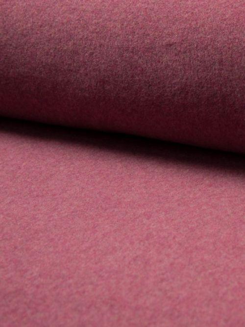Biologisch fleece stof bordeaux melange
