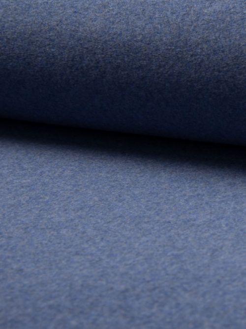 Biologisch fleece stof jeans blauw