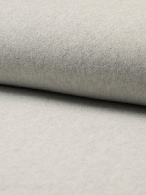 Biologisch fleece stof licht grijs
