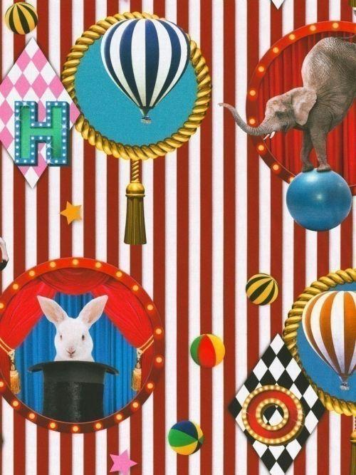 Bedrukte stof digitale print circus