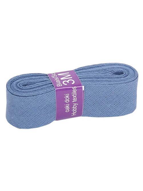 Biaisband katoen jeans blauw