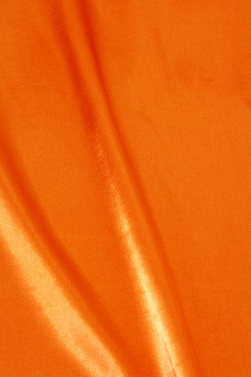 Satijn stof oranje