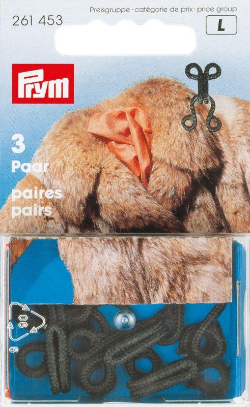 Prym bonthaken en ogen zwart 261453