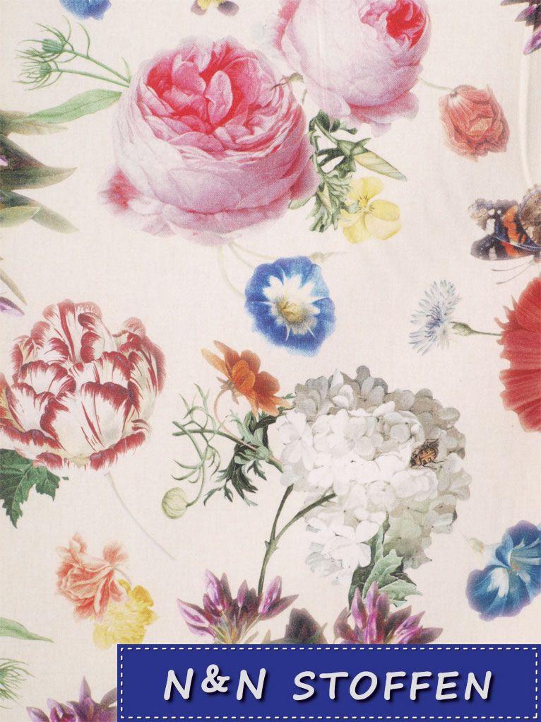 Bedrukte Stof Digitale Print Bloemen Kunst Schitterend Tafereel Of 100 Katoen N N Stoffen