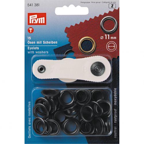 Prym ogen en ringen 11 mm zwart 541381