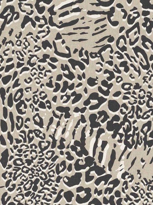 Bedrukte stof luipaard zwart wit