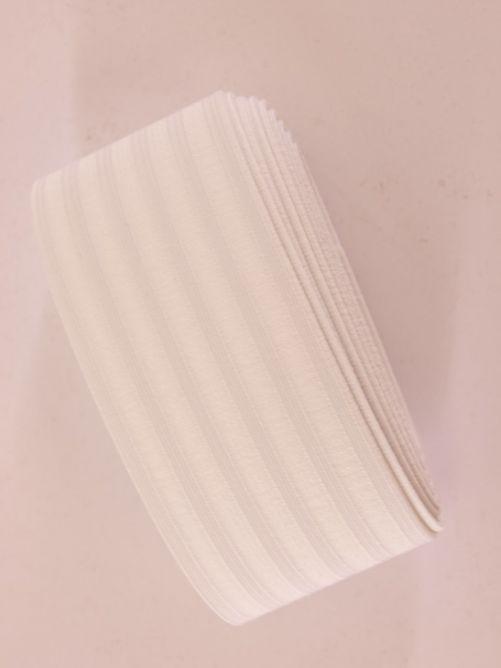 Breed elastiek wit