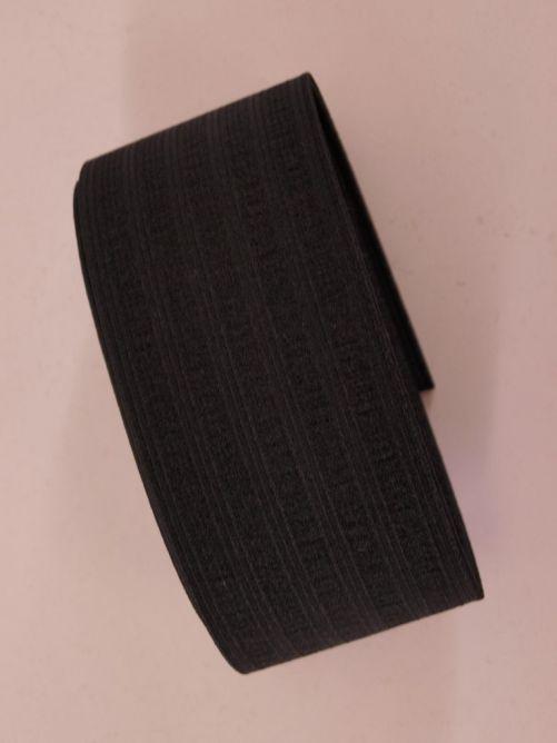 Breed elastiek zwart