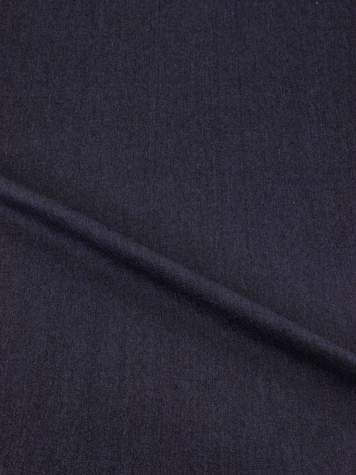 Spijkerstof stretch dun donker blauw