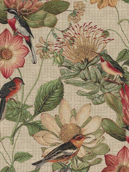 Gobelin bloemen en vogels