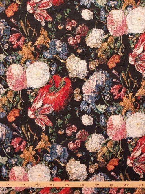 Gobelin stof bloemen kunst