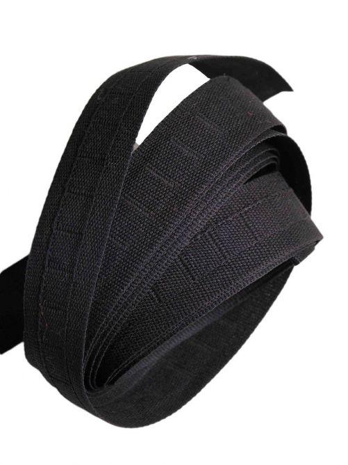 Hakenband zwart 6 meter