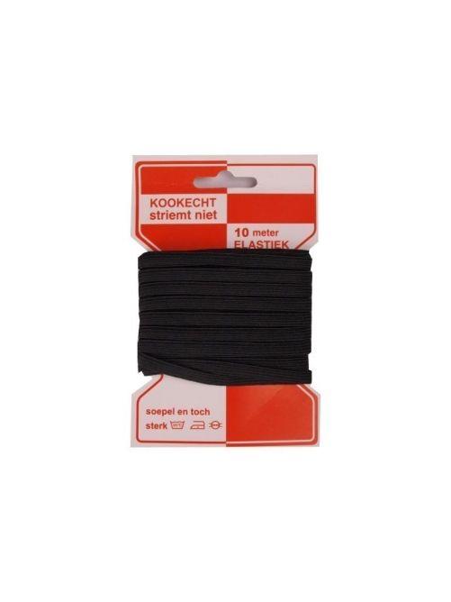 Hoedenelastiek 5 mm zwart 10 m lang