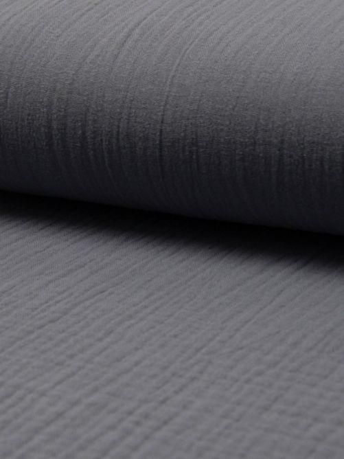 Hydrofiel stof donker grijs