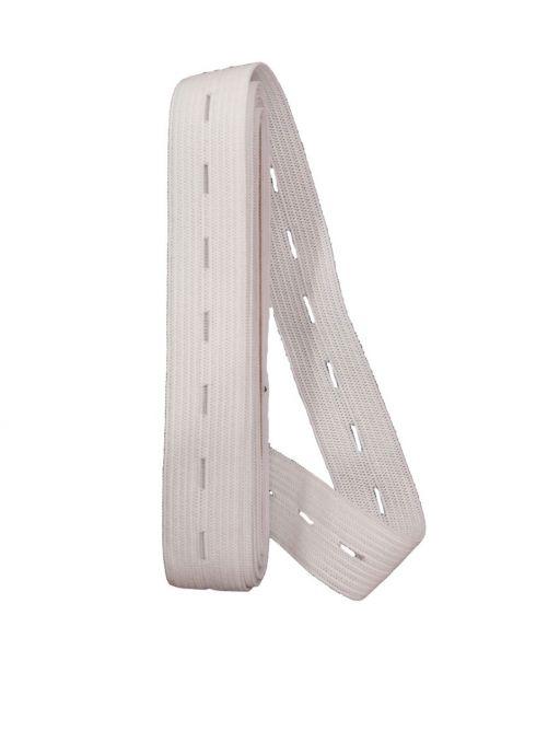 knoopsgaten elastiek wit
