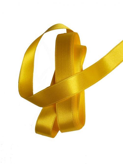 satijnlint 15 mm geel 3 meter