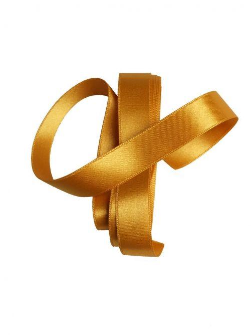 satijnlint 15 mm goud 3 meter