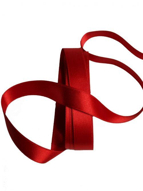 satijnlint 15 mm rood
