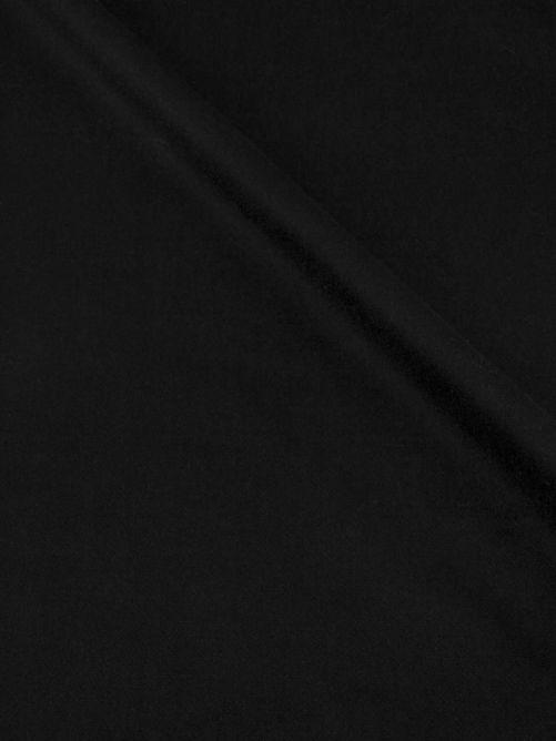 Mantelstof velour zwart