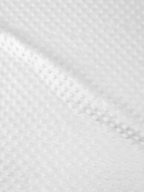 Minky fleece stof wit