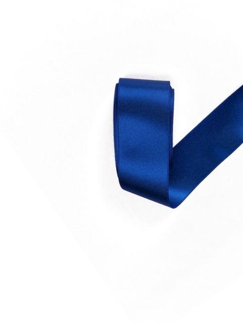 Satijnlint 38 mm blauw 3 meter